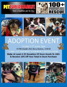 Pet Supermarket Adoption Event 10.17.15