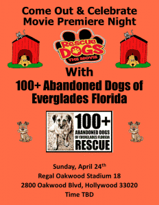 Rescue Dogs the Movie Event poster