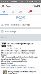 Facebook reached 200,000