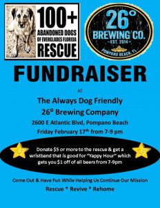 Fundraiser - 26 degrees brewery 02.17.17