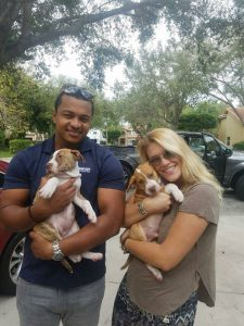 MDAS Mange Puppies - Maxene and Patrick adopted together