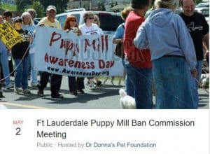 Ft Lauderdale Puppy Mill Ban Commision Meeting