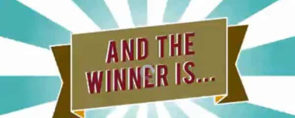 And the Winner of our Raffle for a $100 Gift Card is..
